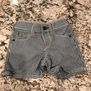 Jean Striped Baby Shorts